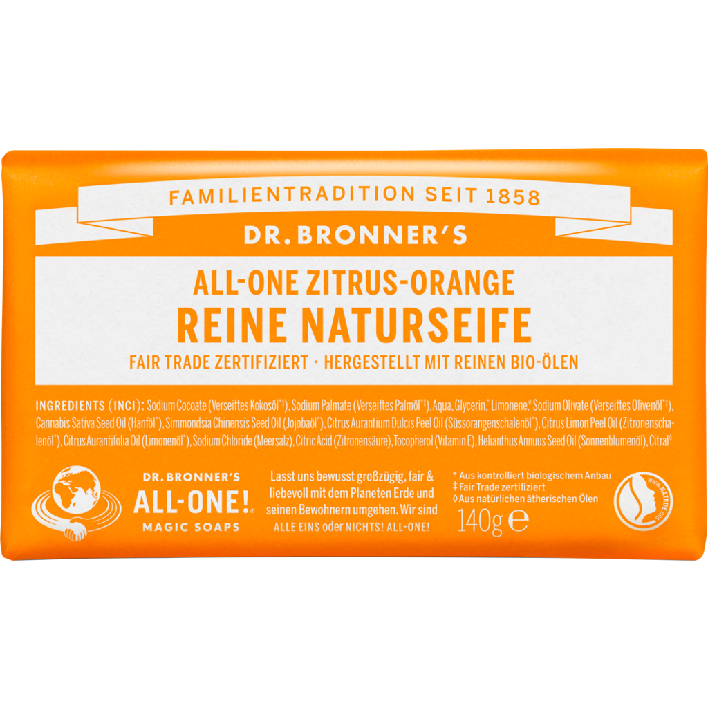 Reine Naturseife Zitrus-Orange